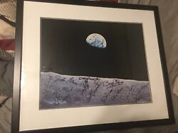 Earthrise Photo With Printed Signatures