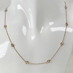 2ct 18k Station Natural Diamonds Necklace By The Yard Inch Round F/ Si/ Rose 16