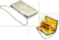 Antique Rare Russian Imperial Solid Silver 84 Female Ladies Money Coin Purse