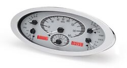 1932 32 Ford Coupe Roadster Dakota Digital Silver Alloy And Red Analog Gauge Kit