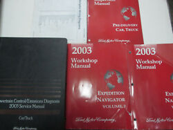 2003 FORD EXPEDITION & LINCOLN NAVIGATOR Shop Repair Service Manual Set OEM WORN