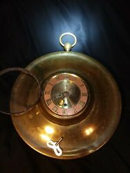 Beautiful Rare Antique Aristocrat Co German 8 Day Large Wind-up Brass Wall Clock
