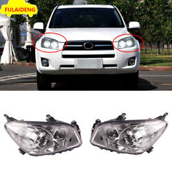 For Toyota RAV4 09-12 LED Angel Eyes+Lens+Xenon Headlamps Assembly Double Beam
