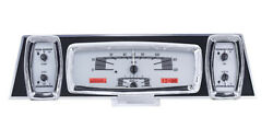 1961-63 Lincoln Continental Dakota Digital Silver Alloy And Red Vhx Gauge Kit