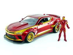 Jada Toys Marvel Iron Man And 2016 Chevy Camaro Die-cast Car, 124 Scale...