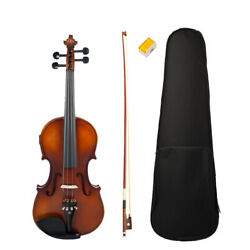 MagiDeal 1 Set 44 Size Electric Acoustic Violin with Storage Bag Bow Rosin