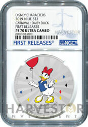 Disney Mickey And Friends Carnival Coin Daisy Duck - Ngc Pf70 First Releases