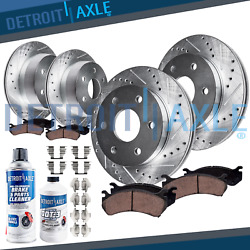Front And Rear Disc Brake Rotors + Pads For 2007 - 2013 Tahoe Suburban Avalanche