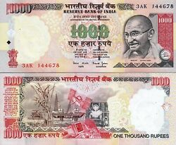 India First 1000 Rupees 2000 , Without Letter , Unc, P-94a, Sign 88 Bimal Jalan