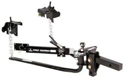 Husky 31995 Round Bar 600lb Weight Distribution Hitch With Sway And 2 Ball