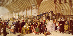 William Powell Frith The Railway Station Artist Painting Reproduction Handmade