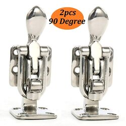 2x 90 Degree Stainless Steel Clamp-locking Boat Hold Down 90d Cam Latch Us Ship