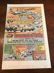 1975 Vintage 6.5x10 Comic Toy Print Ad For Kenner Ssp Tournament Of Thrills Cars