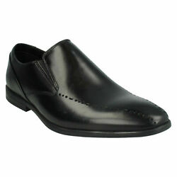 Bampton Free Mens Clarks Office College Smart Leather Slip On Formal Shoes