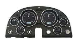 1963 - 67 Chevy Corvette Black Alloy & White Dakota Digital VHX Analog Gauge Kit
