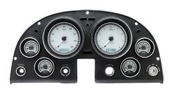 1963 -67 Chevy Corvette Silver Alloy & White Dakota Digital VHX Analog Gauge Kit