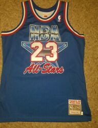 Micheal Jordan 1993 Allstar Jersey Mitchell And Ness Size L 44 Authentic Nwot