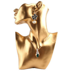 Resin Female Mannequin Head Bust Stand Model Shop Jewelry Necklace Display