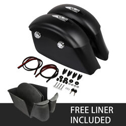 Matte Saddlebags Electronic Latch And Carpet Liner For Indian Chieftain Dark Horse