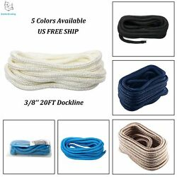 5 Colors 3/8and039and039x 20ft Double Braid Nylon Rope/dock Line/mooring Line Amarine-made