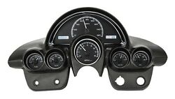 1958-62 Chevy Corvette Black Alloy & White Dakota Digital VHX Analog Gauge Kit