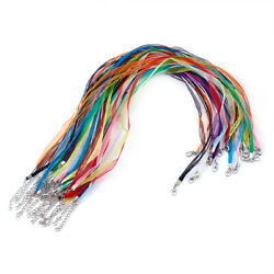 100pcs Multi-strand Organza Ribbon Necklace Cord Chains For Jewelry Making 17.7