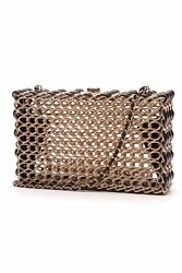 Chanel Minaudiere Evening Bag - Woven BrassLeather