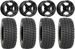 Msa Black Cross 14 Utv Wheels 28 Xcr350 Tires Can-am Maverick X3