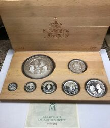 1989 Spain 500th Anniversary Discovery Of The Americas 7 Coin Silver Pesetas Set