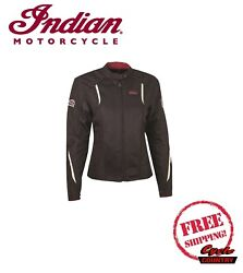 GENUINE INDIAN MOTORCYCLE WOMEN#x27;S SPRINGFIELD 2 MESH JACKET NEW SCOUT CHIEF $209.99