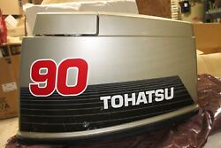 New Oem Tohatsu Engine / Motor Cover Upper Cowl 90 Hp Gold