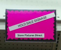 3.5 X 5.5 Card Protecting Sign Holder For Gondola Shelf Ticket Channel