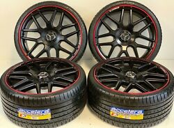 20 Mercedes Benz S550 Style Wheels Rims Amg S63 Redline Staggered New Set Of 4