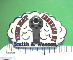 This Hat Insured By Smith And Wesson - Hat Pin  Lapel Pin Tie Tac Gift Boxed