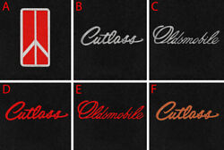 New Black Floor Mats 1961-1996 Cutlass With Embroidered Logo - Free Shipping A4