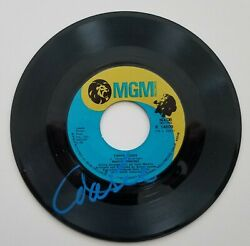 Marie Osmond Signed Paper Roses 7 Vinyl Record 45 Rpm Donny And The Osmonds Rad