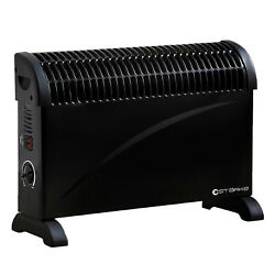 Starke Electric Heater Black 2000w 3 Heat Portable Convection Panel Thermostat