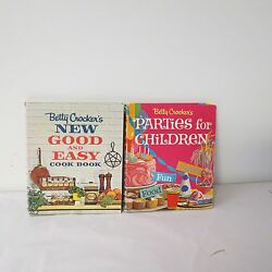 Vintage Betty Crocker Parties For Children And New Good And Easy Cookbooks