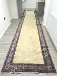 Fine Wool Kirman Hallway Runner Commisioned For Royal Palace 20ft X 3ft Rug