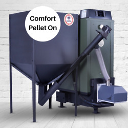 fully automatic boiler wood pellet 30 kW central heating Comfort Pro brenner mu