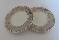 Mikasa Intaglio Japan Meadow Sun Two Saucers Only Cac02