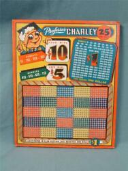 1930's Professor Charley Punch Board - Vintage Never Used