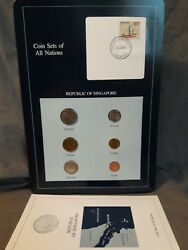 Coin Set 6 Coins Blue Card Republic Of Singapore 1985 Coin Sets Of All Nations