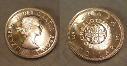 Canada 1964 Dollar Gem Bu Pl Nice High Grade Coin For Your Collection.
