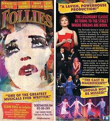 Follies The Musical Nyc Ad/flyer Bernadette Peters Elaine Page Broadway Closed