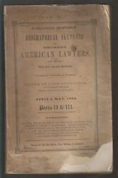 1852 Book - Biographical Sketches Of Eminent American Lawyers - John Letcher Sgn