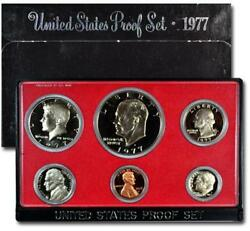 1977 S Us Mint Proof Coin Set. With Black Box.