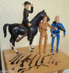 Marx Johnny West Sam Cobra Thunderbolt General Custer With Many Accessories
