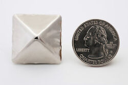 Giant 1-inch Silver Pyramid Studs For Clothing - Bag Of 100 - Studs And Spikes