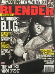 Notorious B.i.g. April 2007 Blender Magazine Arcade Fire The Police /the Beatles
